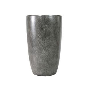 Vaso Decorativo em Porcelana na Cor Cinza - 32x20cm