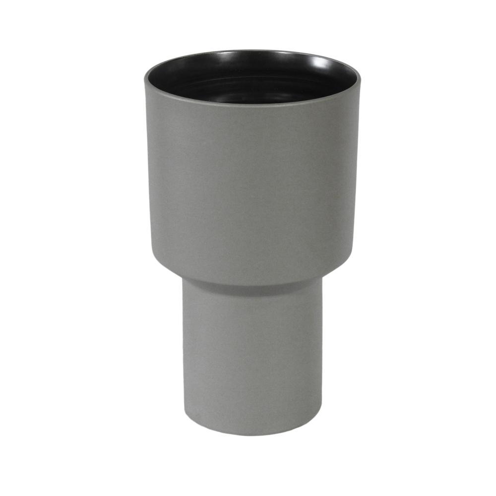 Vaso Decorativo Produzido em Cerâmica Cinza - 27x16cm