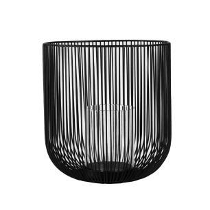 Castiçal Produzido em Metal Preto - 20X19cm