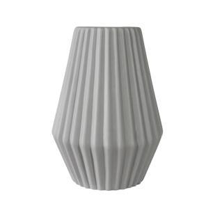 Vaso Decorativo em Cerâmica na Cor Cinza Claro - 25cm