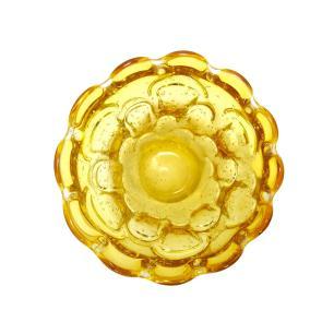 Vaso Decorativo em Murano Âmbar com Detalhes - 14x10x14cm