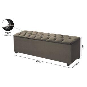 Calçadeira com Bau para cama Bali Animale Marrom 1,50