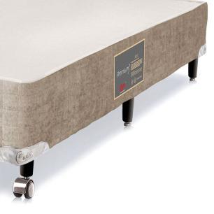 Cama box para Colchão Solteiro Castor Premium bege 78 x 188 x 40