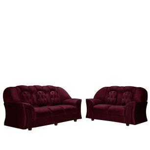 Sofa 2 e 3 Lugares Monaco Sued Pena Vinho
