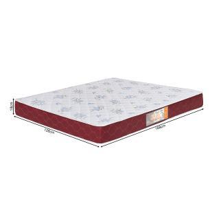 Colchão box Casal Castor Espuma D20 Sleep Max 18 cm Vinho 128