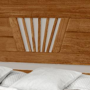 Cama casal + Comoda de madeira maciça com espelho Gabriela/Chicago Castanho