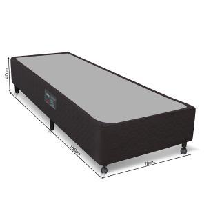 Cama box Solteiro para colchão Castor Pocket Híbrido Class bege 78