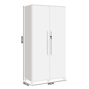 Armário Multiuso 2 Portas Com Chave Branco