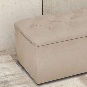 Calçadeira com Bau para cama Dallas Atraente Animale marrom Claro 1,83