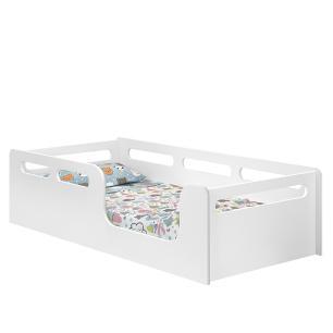 Cama De Solteiro Branco Montessoriana Com Colchão Montessori
