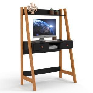 Escrivaninha Para Quarto Home Office Desk Nature Preto
