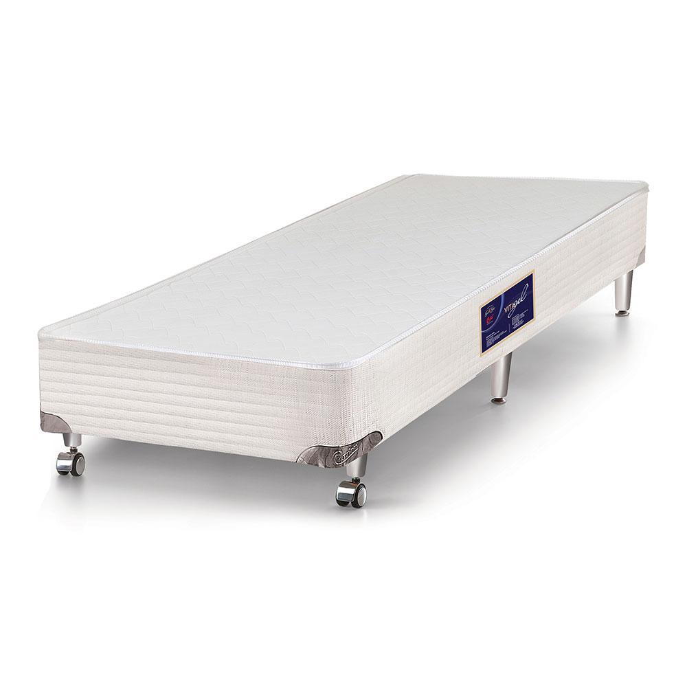 Cama box solteiro para colchão Castor Gold Star Vitagel 88 x 188 x 40