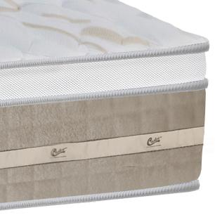 Colchão box Casal Castor Premium Amazon One face bege 138 x 188 x 32