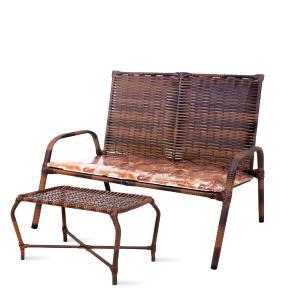Cadeiras Para Varanda Kit 2 Cadeiras E Mesa De Centro De Junco Almofadada