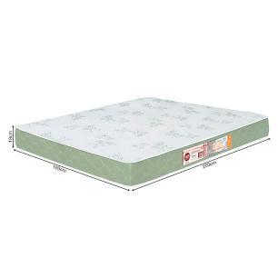 Colchão liso King Size Castor Espuma D33 Sleep Max 18cm Verde