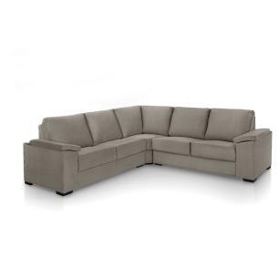 Sofa de canto 4 lugares almofadado Turim Cinza A75