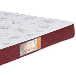 Colchão box Casal Castor Espuma D20 Sleep Max 15 cm Vinho 138