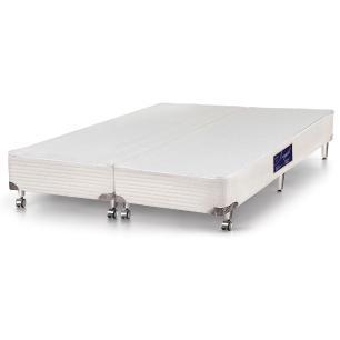 Cama box Queen size para colchão Castor Gold Star Vitagel 158 x 198 x 40
