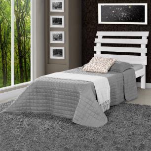 Cama solteiro de madeira maciça com colchão Rebeca Atraente Branca