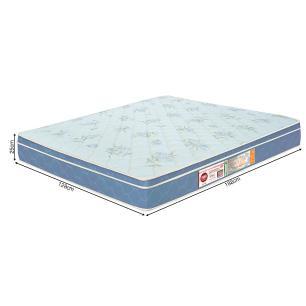Colchão box Casal Castor Espuma D45 Sleep Max 25cm Azul 128