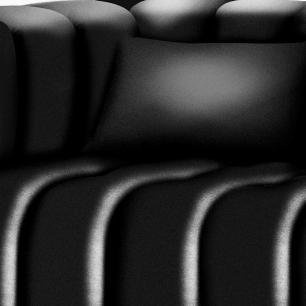 Sofá 2,44M Corino Mônaco Art Estofados Preto