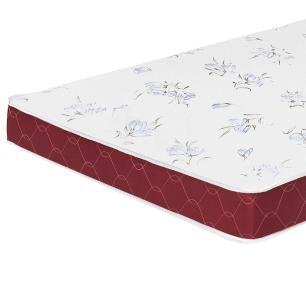 Colchão liso Casal Castor Espuma D20 Sleep Max 12 cm Vinho 138