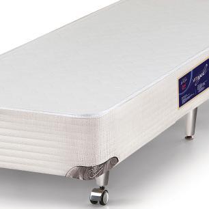 Cama box solteiro para colchão Castor Gold Star Vitagel 78 x 188 x 40