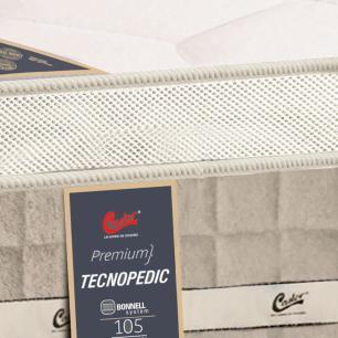 Colchão box Solteiro Castor Premium Tecnopedic One face Bege 88 x 188 x 30