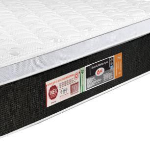 Colchão box Queen Size Castor Espuma D45 Black & White Air One Face
