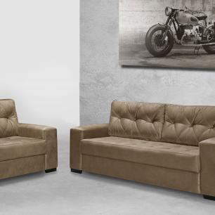 Sofa 2 e 3 Lugares Florença Sued Elefante Bege