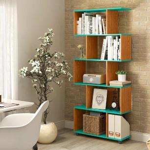 Estante Para Livros Para Sala Com Nichos Verde Nature Innovare