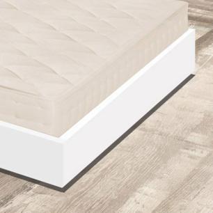 Cama auxiliar solteiro de madeira maciça com colchão Atraente branca