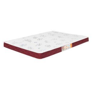 Colchão liso Casal Castor Espuma D20 Sleep Max 12 cm Vinho 128