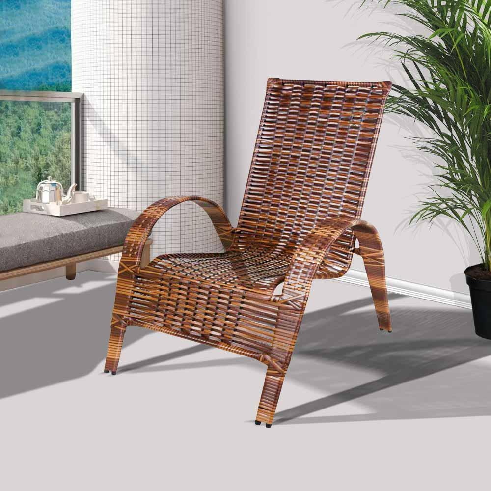 Cadeira de área externa varanda e jardim em junco Rei