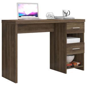 Escrivaninha Home Office Compacta 2 Gavetas Carvalho
