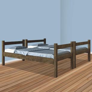 Beliche solteiro que vira duas camas VJ Móveis Letícia Castanho