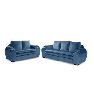 Sofa 2 e 3 lugares Almofadado Italia Azul A92