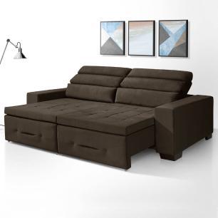 Sofa retratil e reclinavel 3 lugares Barcelona Café A91