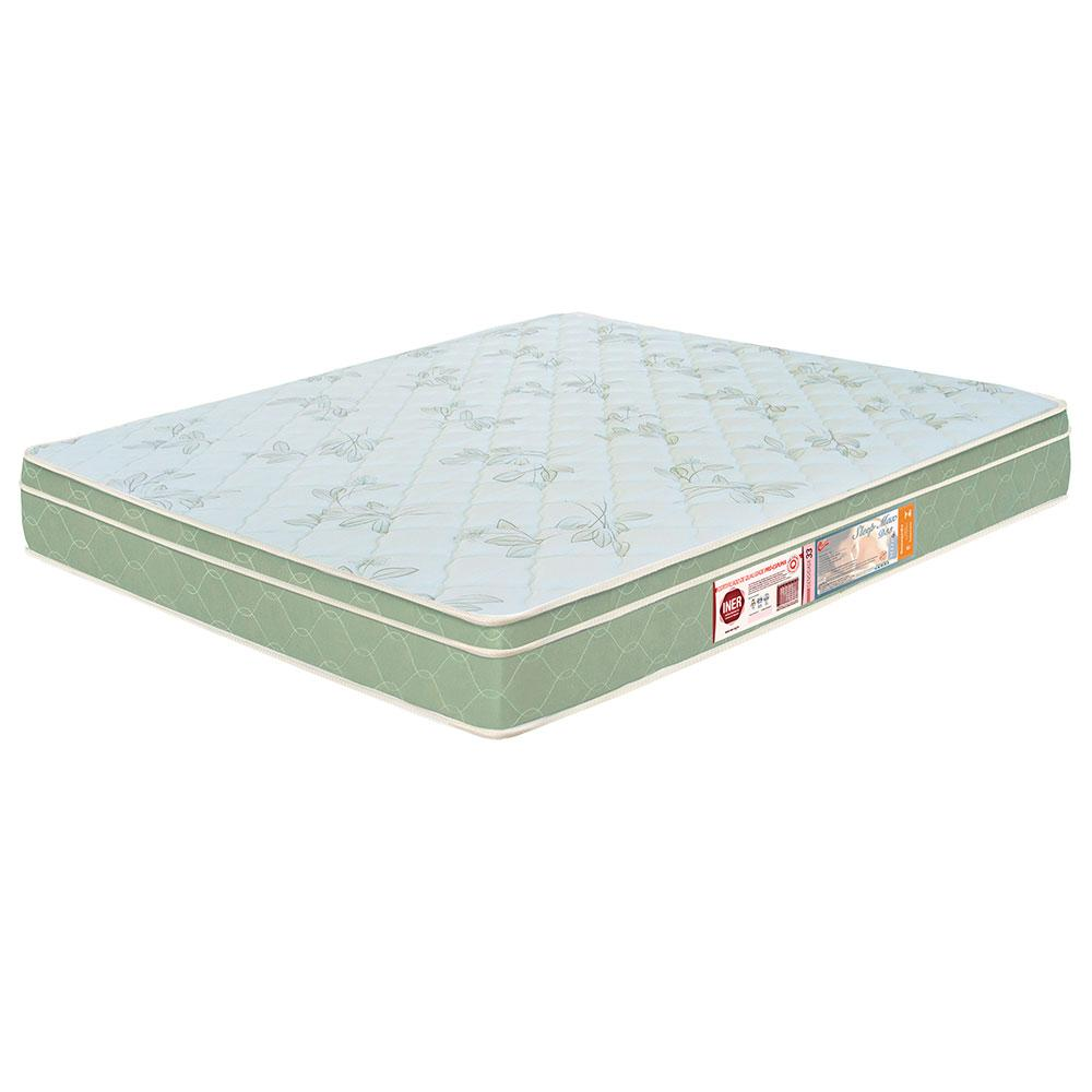 Colchão box Casal Castor Espuma D33 Sleep Max 25cm Verde 138