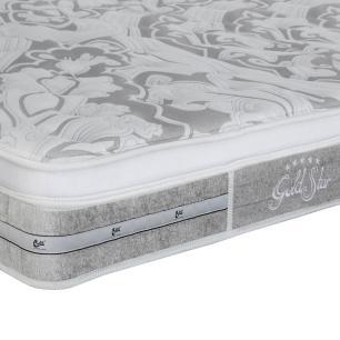 Colchão box King Size Castor Gold Star Pocket Latex Grand Plush One Face 193 x 203 x 30