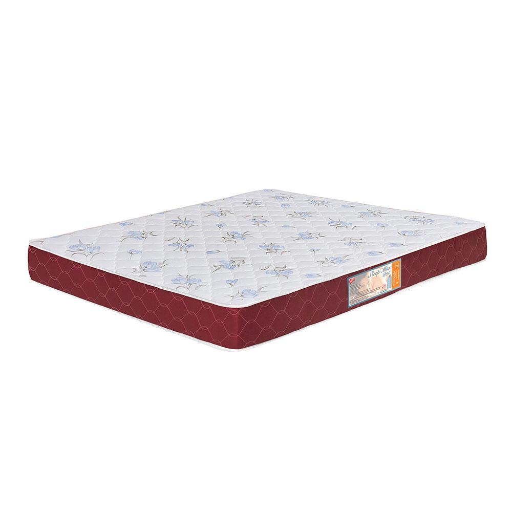 Colchão box Queen Size Castor Espuma D20 Sleep Max 15 cm Vinho