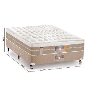 Cama Box + colchão Casal Castor Pocket Silver Star Air One Face 72 x 128 x 188