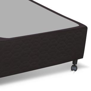 Cama box Solteiro para colchão Castor Pocket Híbrido Class bege 88