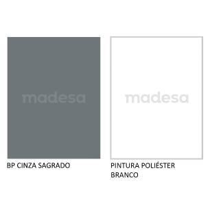 Rack Madesa Cairo para TV até 65 Polegadas com Pés de Madeira - Cinza/Branco F709