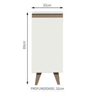 Balcão Madesa Reims 35 cm 1 Porta - Branco