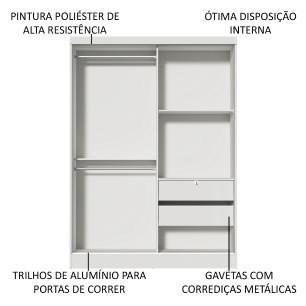 Kit Madesa Guarda-Roupa Infantil Nick com 2 Portas de Correr de Espelho + Beliche Larissa