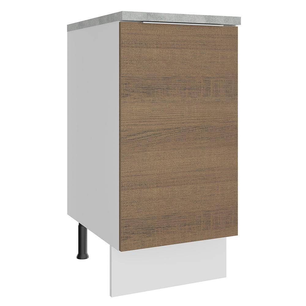Balcão Madesa Stella 40 cm 1 Porta - Branco/Rustic