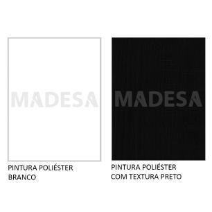 Rack Madesa Cancun e Painel para TV até 65 Polegadas - Branco/Preto/Preto