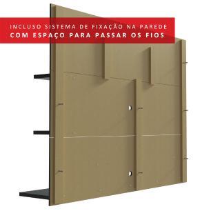 Painel para TV até 60 Polegadas Madesa Alfa com Prateleiras e Nichos - Preto
