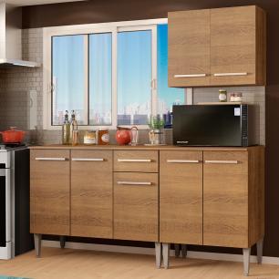 Cozinha Compacta Madesa Emilly Free com Armário e Balcão